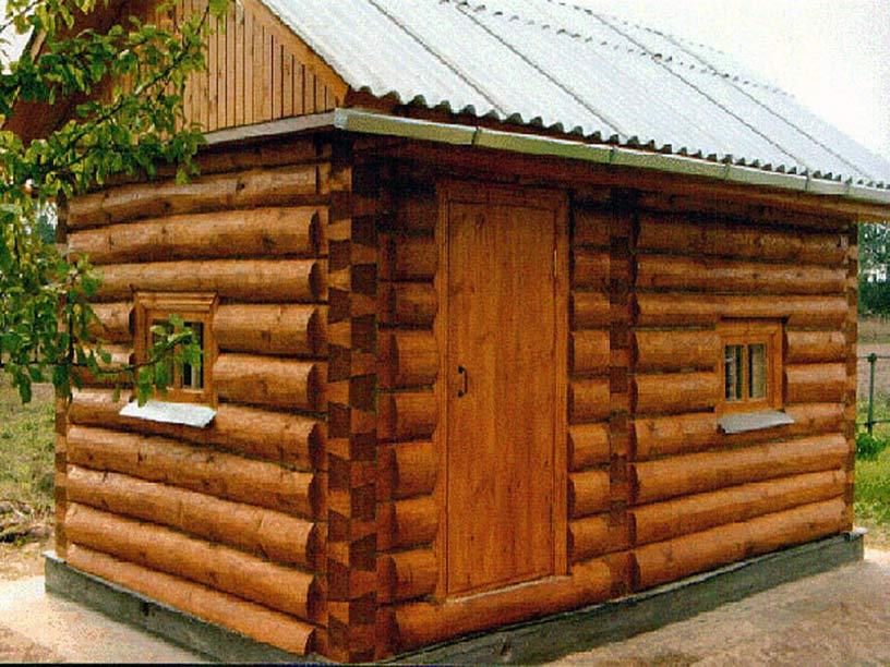 Постройку русской деревянной бани можно сравнить с возведением деревянного дома.